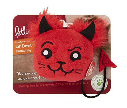 Petlinks Lil Devil 100% Catnip Filled Plush Cat Toy