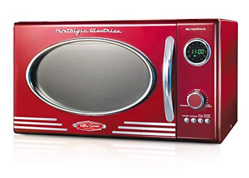 Nostalgia Horno microondas de encimera, grande, estilo retro Rojo metálico Retro RMO4RR