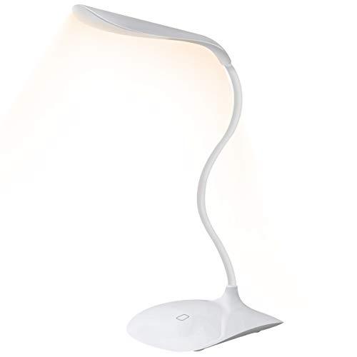 LED Libro de Lectura,Luz de Libro USB, Luz de Lectura con LED Cálidos, Protección de los ojos, Lámpara de mesa,sensible al tacto de control, Ahorro Energía