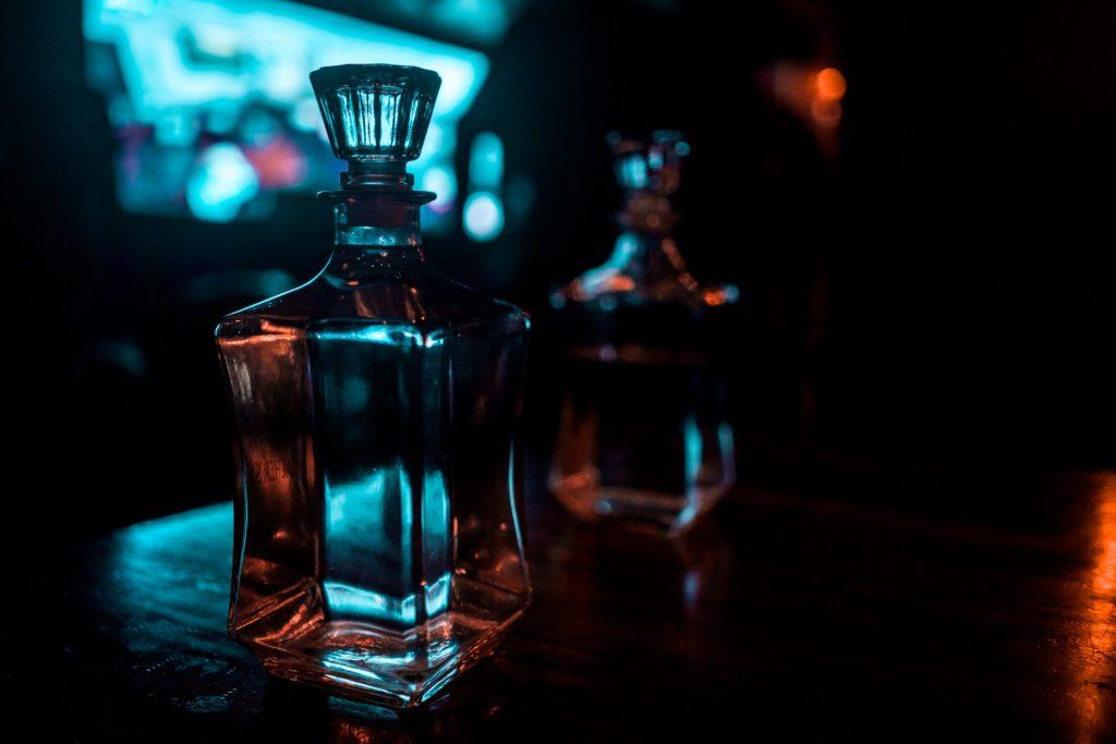 Botellas de whisky vacias