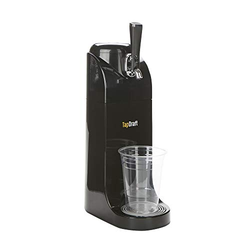 Mind Reader Dispensador de grifo de cerveza de 40 onzas, sistema alimentado por pilas, acero inoxidable, barril portátil, picnic, cocina, bar, negro, talla única