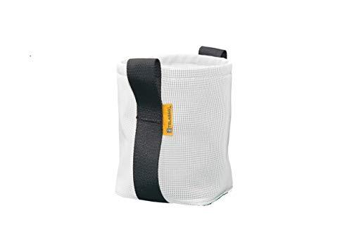 TELABAG | Maceta textil ecológica color blanco, modelo REBOLLADA de 18 x 20 cms.