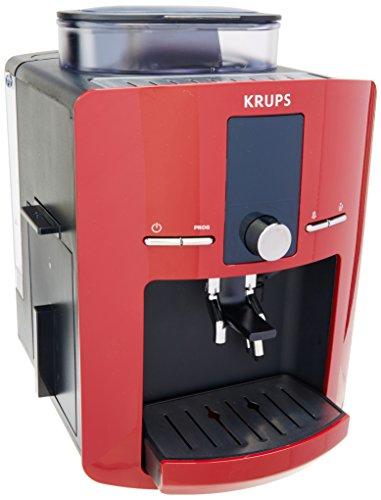 Cafetera Espresso Krups EA825511 Automática Premium Roja, Programable con sistema de auto encendido/apagado, Sistema Thermoblock, 15 bares de presión,1450W