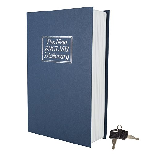 Trademark Home Mini Diccionario Diversion Book Caja fuerte con cerradura de llave, metal, Tamaño grande