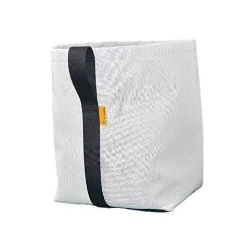 TELABAG | Maceta textil ecológica color blanco,modelo AVILÉS de 38 x 40 cms.