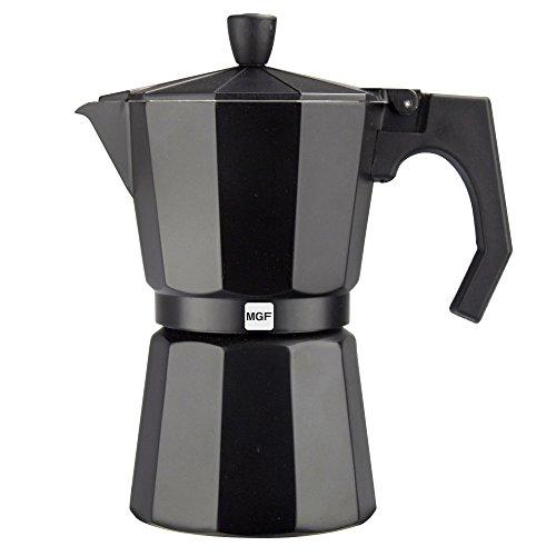 Magefesa 01PACFKEB06 Kenia - Cafetera (aluminio, 6 tazas), color negro