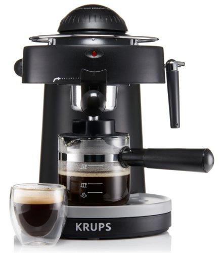KRUPS XP1000 Máquina de espresso a vapor con boquilla de espuma para capuchino, negro