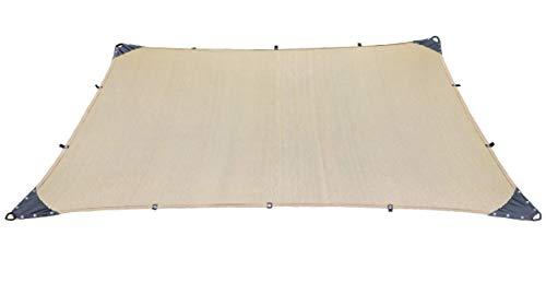 Malla Sombra Reforzada 3x4 metros 90% Lona Toldo Lista Para Colocar Confeccionada Bastillada (Beige)