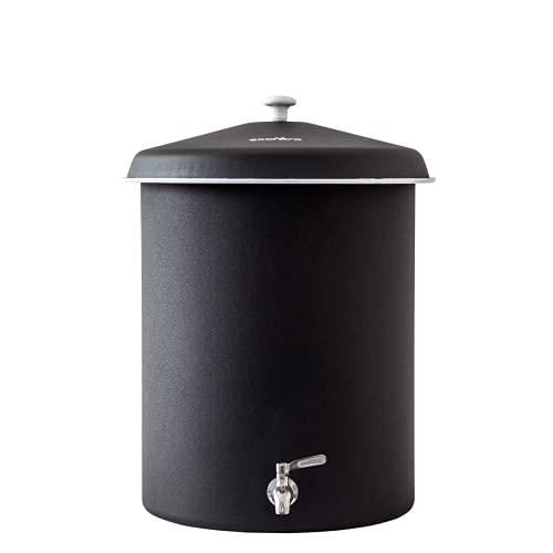 Ecofiltro Purificador Dispensador y Filtro de Agua Peltre Grande (27 L) Negro Ecológico con Carbón Activado para Decoración de Casa, Oficina y Cocina #OlvídateDelGarrafón