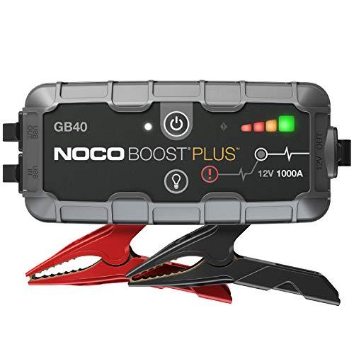NOCO Boost Plus GB40 UltraSafe 1000A 12V Arrancador de batería de Litio portátil, Arranque de batería y Cable de Puente para Motores de Gasolina de hasta 6 litros y Motores diésel de hasta 3 litros