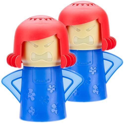 Angry Mama limpiador de microondas cocina equipo de limpieza de alta temperatura/limpio el olor y bacterias, 2 piezas-Azul