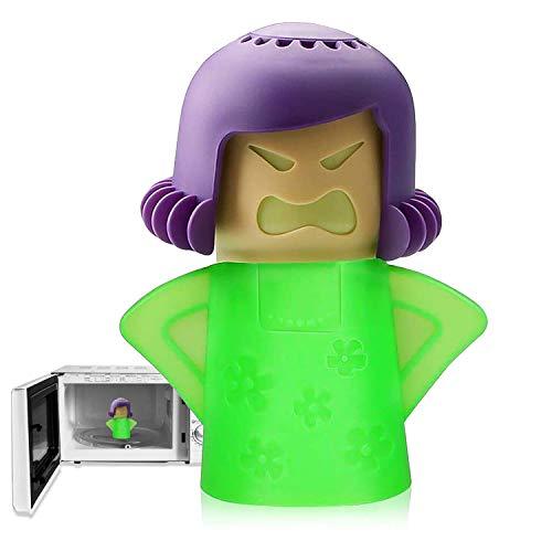 Angry Mama - Limpiador de microondas, horno de microondas, limpiador de vapor de Angry Mom, limpieza crud fácilmente en minutos, limpia y desinfecta con vinagre y agua para cocina