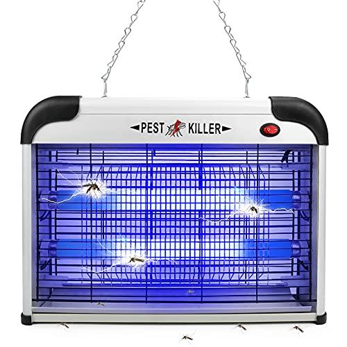 Mosquitero para interiores, 2800 V 20 W, lámpara repelente de insectos, trampa para moscas, mosquitos, luz UV, repelente de plagas para hogar, dormitorio, patio, jardín, patio